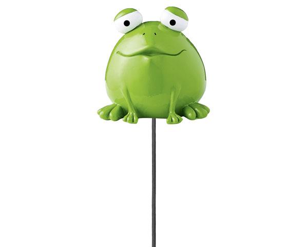 Figur - Gartenstecker Frosch Quak