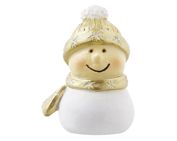 Resin Figur -  Mr. Snowman XXS, gold