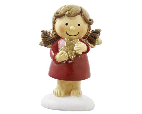 Resin Figur - Engel Sophia, stehen rot