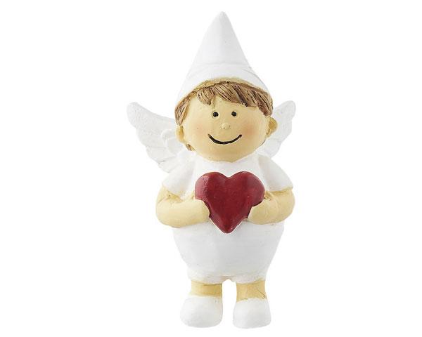 Resin Figur - Engel Raphael, stehend weiß
