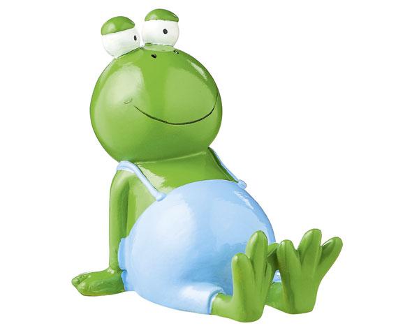 Figur - Frosch liegend blau