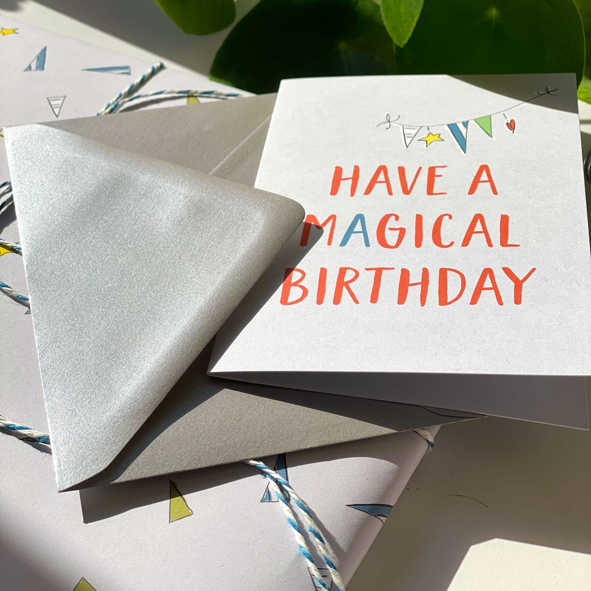 Grußkarte mit Umschlag - Party
