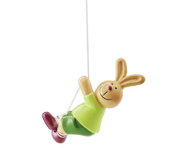 Figur - Hasen Pärchen, Junge kletternd