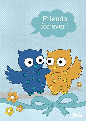 Postkarte - Friends for ever