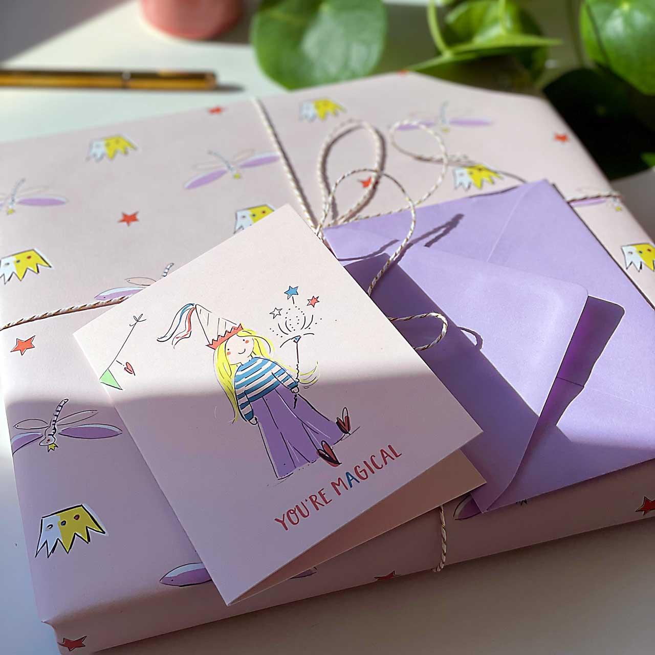 Grußkarte mit Umschlag - Magical Times