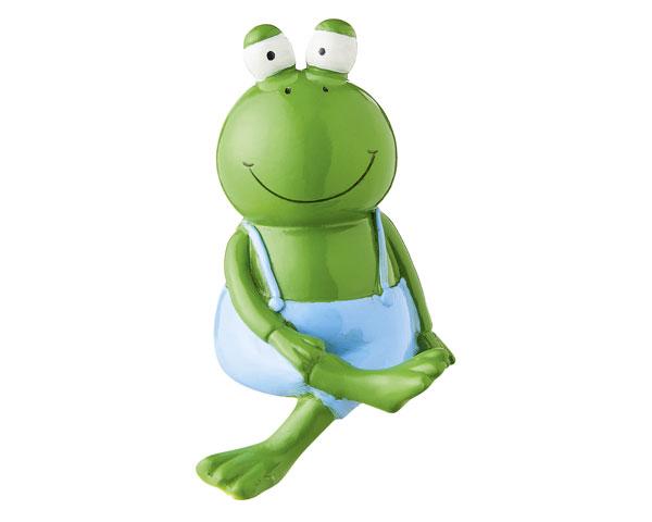 Figur - Frosch Kantensitzer blau
